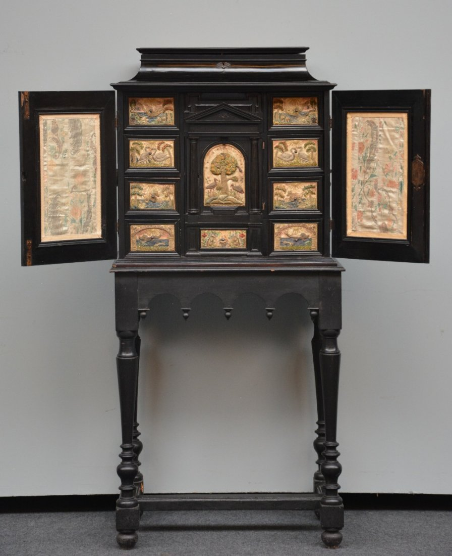 An exceptional 17thC Flemish ebony and rosewood