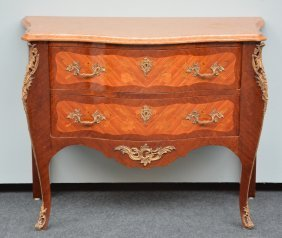 A Lxv-style Commode, Mahogany Veneered, With Gilt