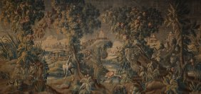 A French Chinoiserie Decorated Aubusson Tapestry,
