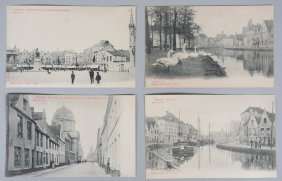 Two Albums With Various Postcards Of Bruges, First