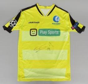 Football Shirt, Kaa Gent, Brecht Dejaegere, Signed,