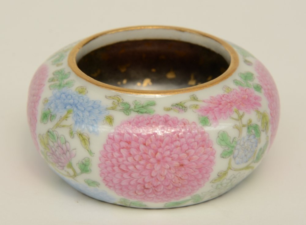 A Chinese famille rose waterpot, decorated with
