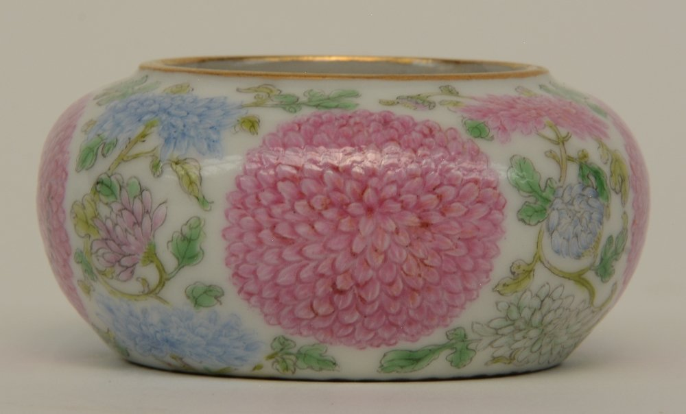 A Chinese famille rose waterpot, decorated with - 2