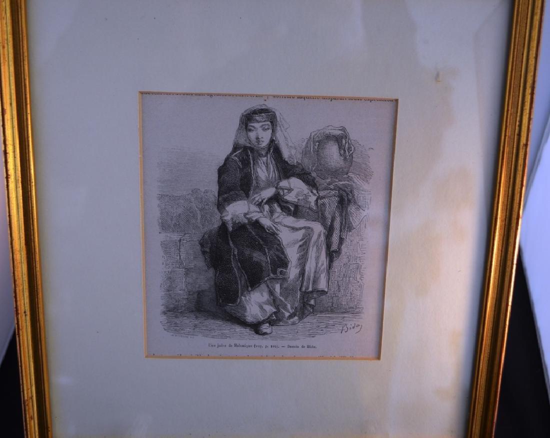 Engraving Dessin de Bida Image of Turkish Woman