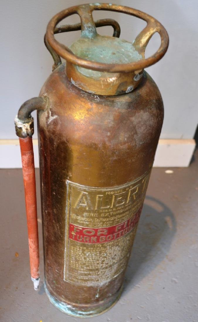 Brass Fire Extinguisher Alert Model Elmira, NY