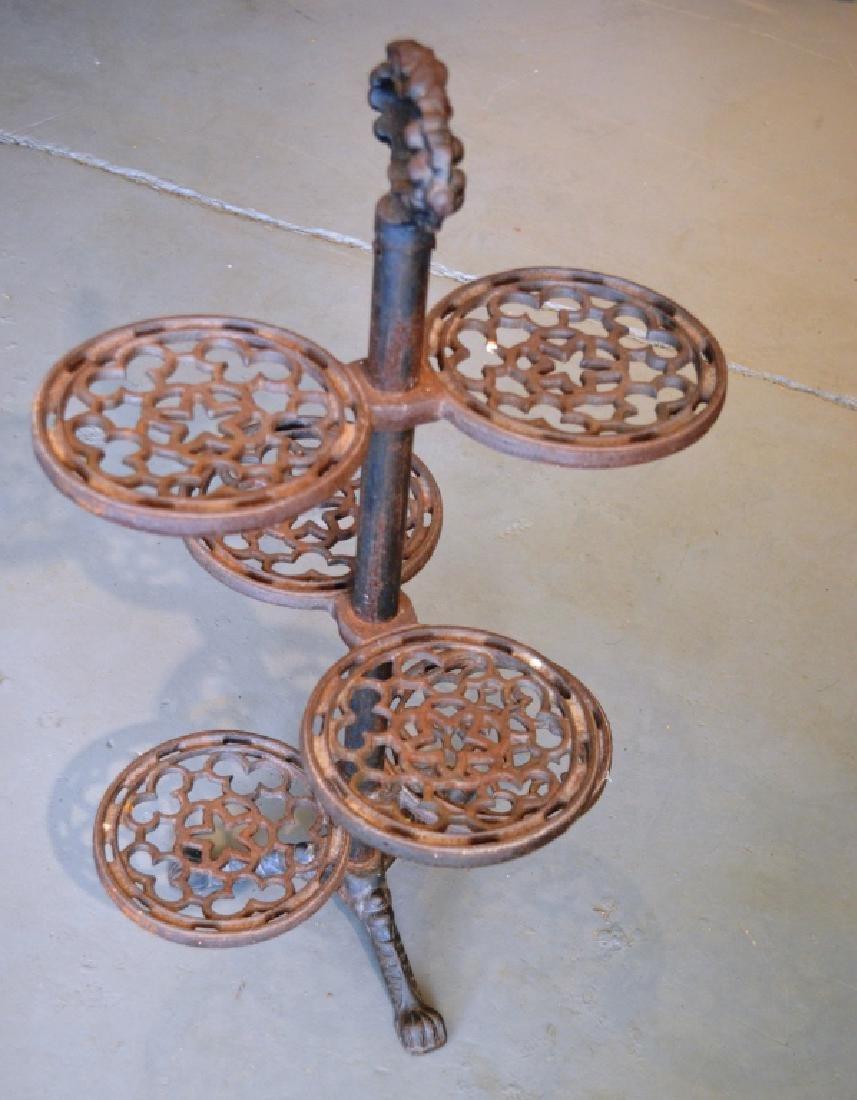 Vintage Cast-Iron Plant Stand - 2