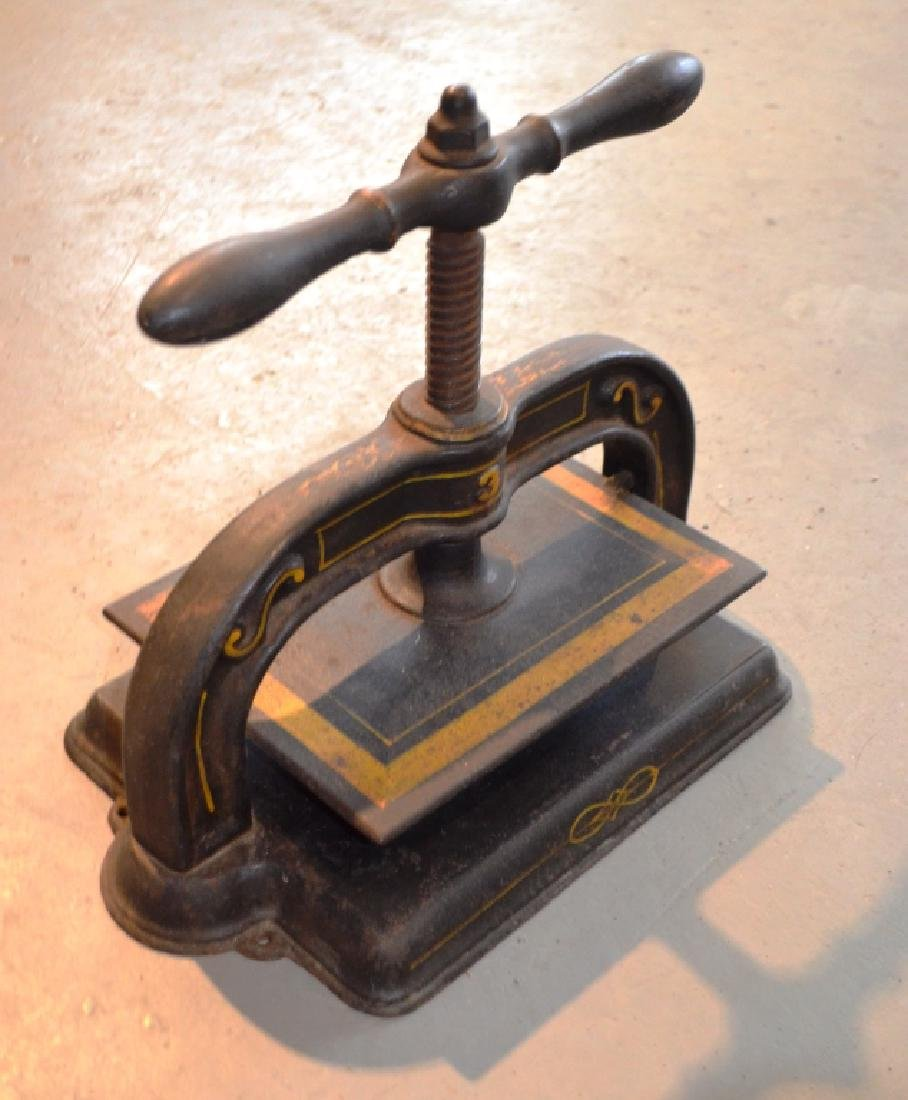 Antique Cast Iron Book Press Binder - 3