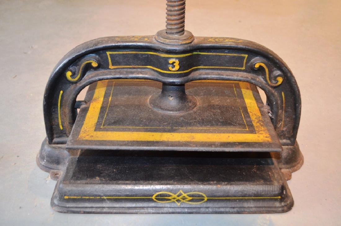 Antique Cast Iron Book Press Binder - 5