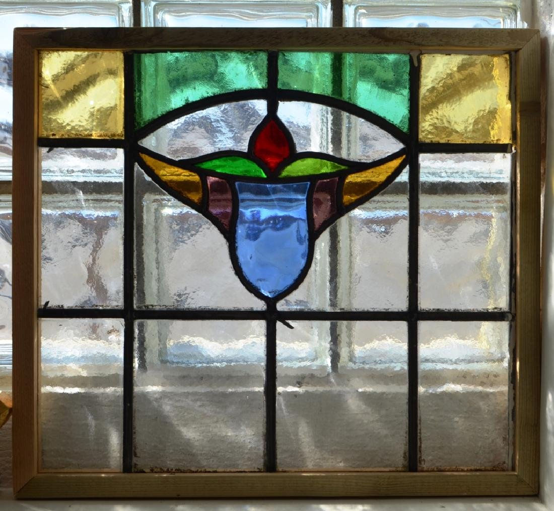 Pair of Matching Stained Glass Panels