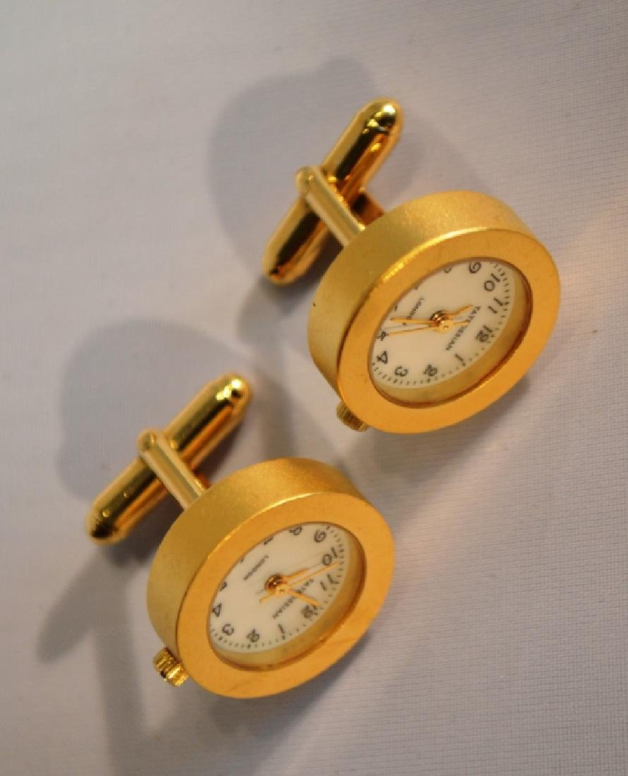 Waltham Goldtone Watch Cufflinks Tateossian