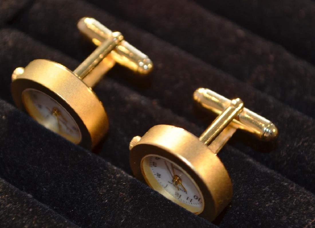 Waltham Goldtone Watch Cufflinks Tateossian - 2