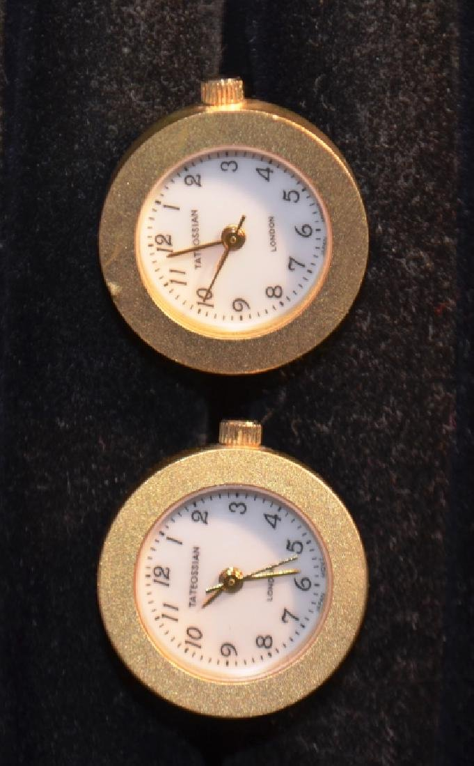 Waltham Goldtone Watch Cufflinks Tateossian - 4