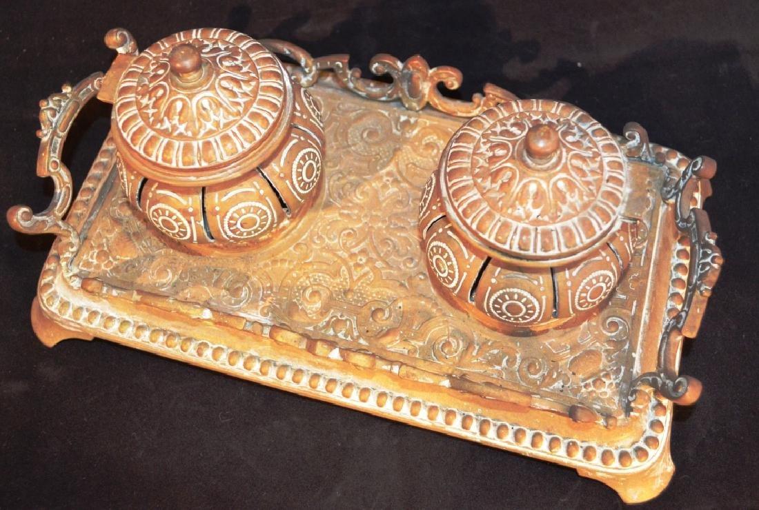Antique Decorative Turkish Inkwell