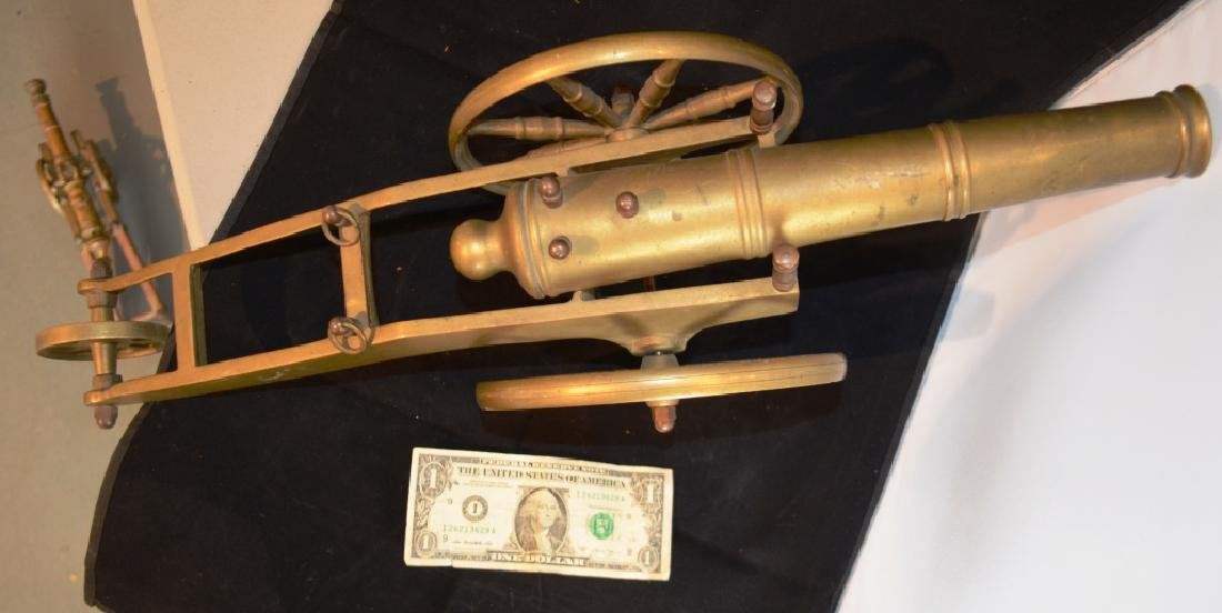 Heavy Brass Cannon 2 Foot Long - 2