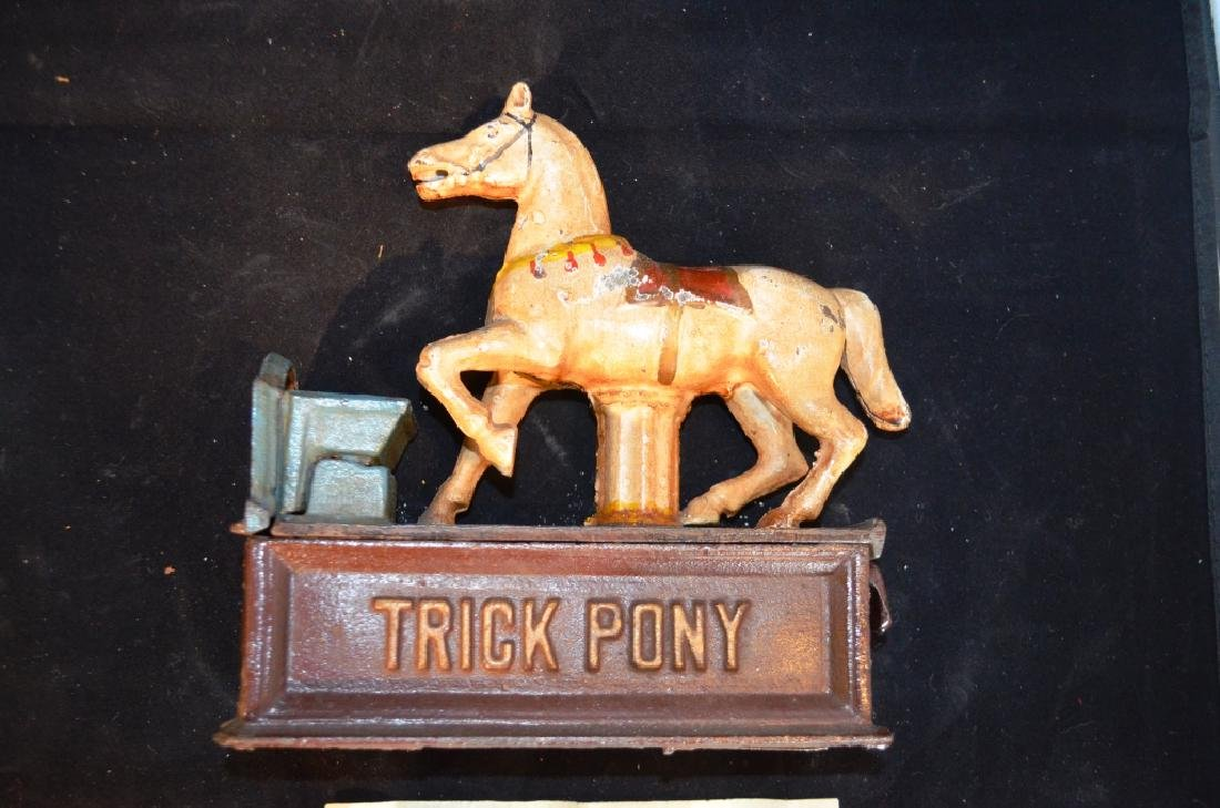 Cast Iron Mechanical Bank Trick Pony - 2