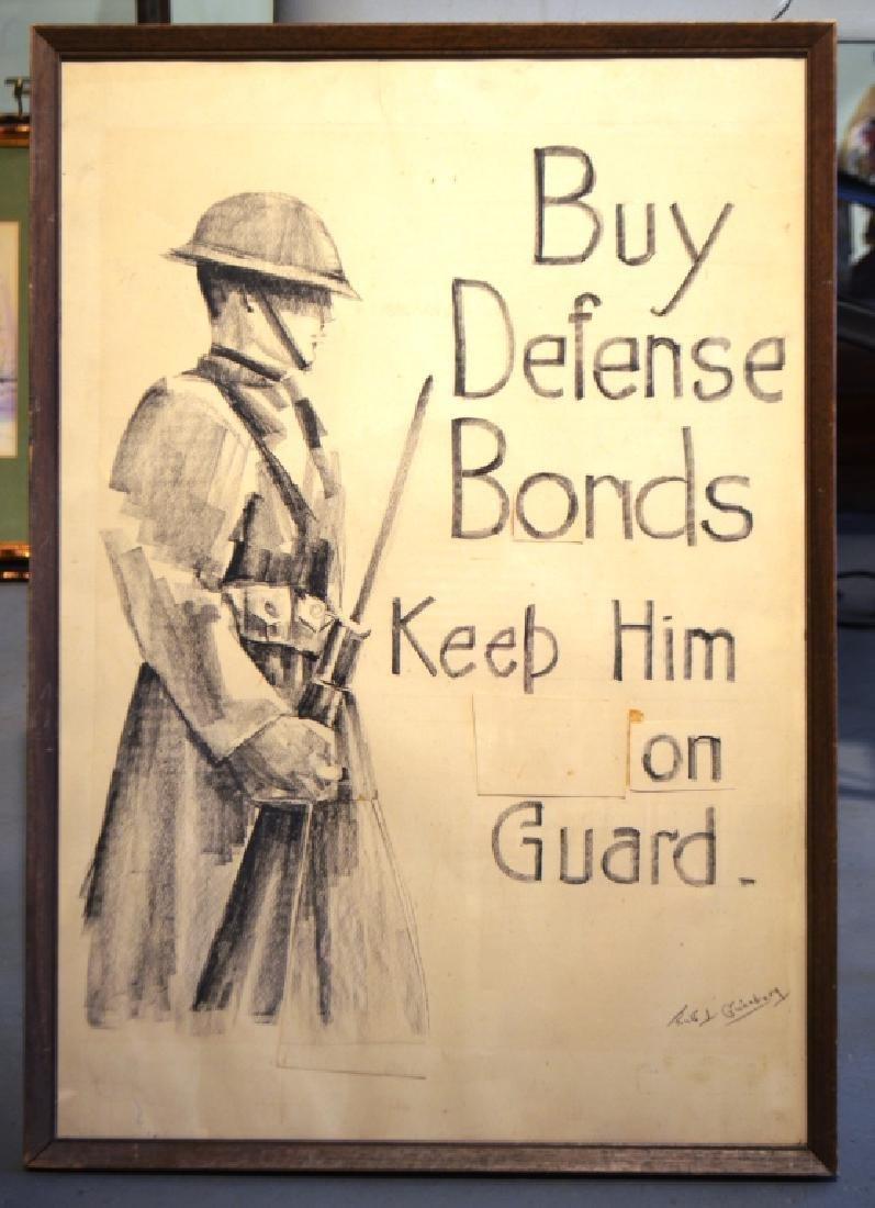 Original Drawing WW1 Poster Design Ruth Ginzberg