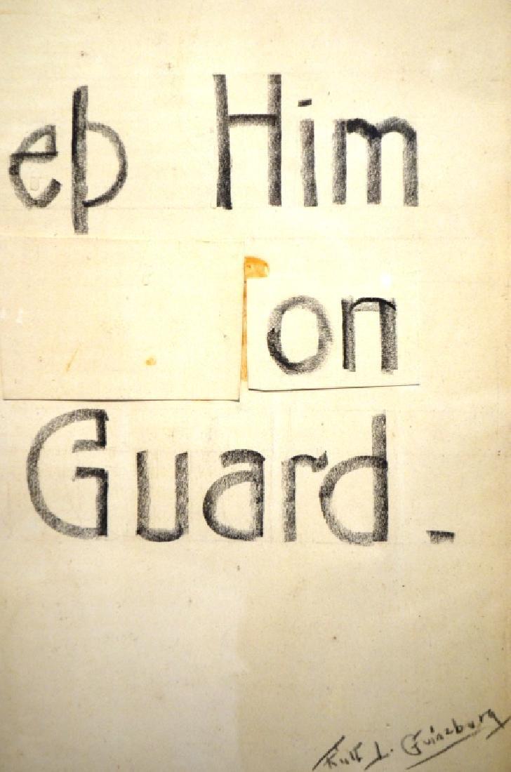 Original Drawing WW1 Poster Design Ruth Ginzberg - 2