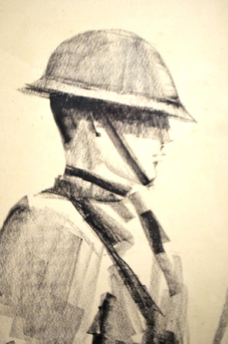Original Drawing WW1 Poster Design Ruth Ginzberg - 3
