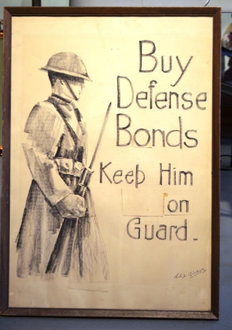 Original Drawing WW1 Poster Design Ruth Ginzberg - 4