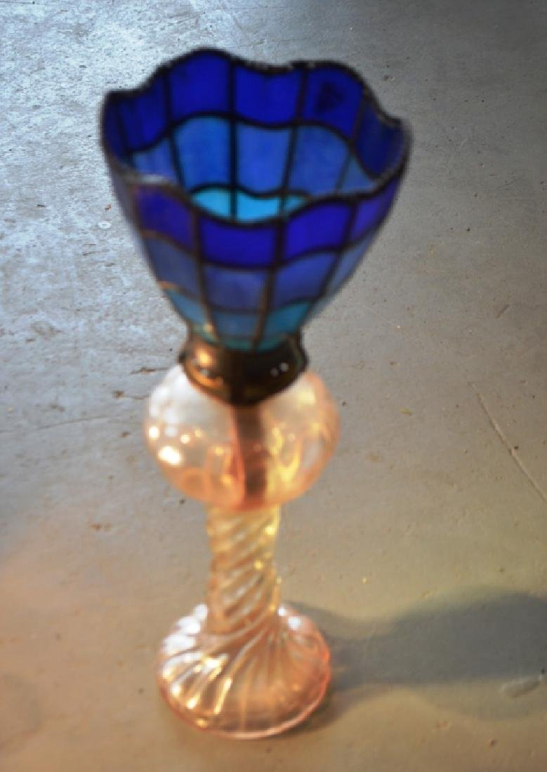 Stained Glass Lamp Shades and Oil Lamp Bases - 4