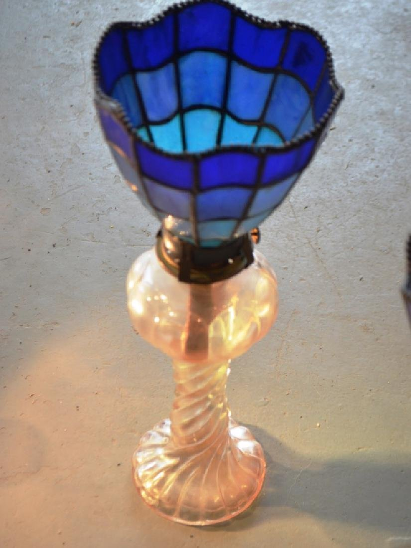 Stained Glass Lamp Shades and Oil Lamp Bases - 5