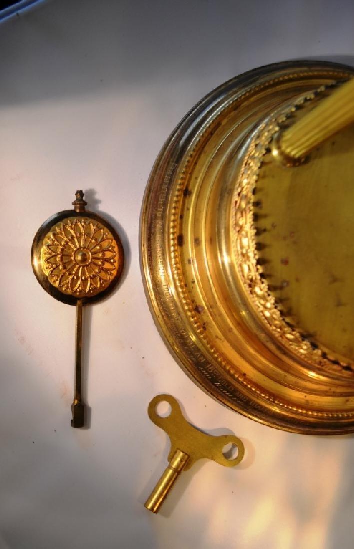 Brass Mantle Clock With Pillars