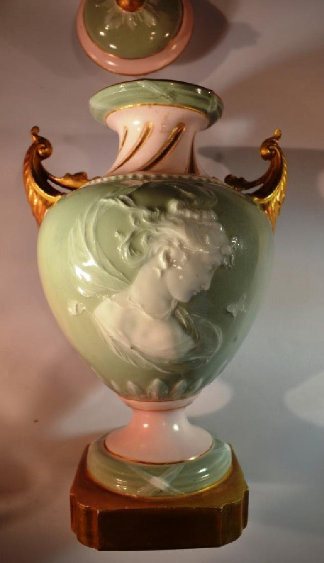 Austrian Urn Hand Painted gold accent
