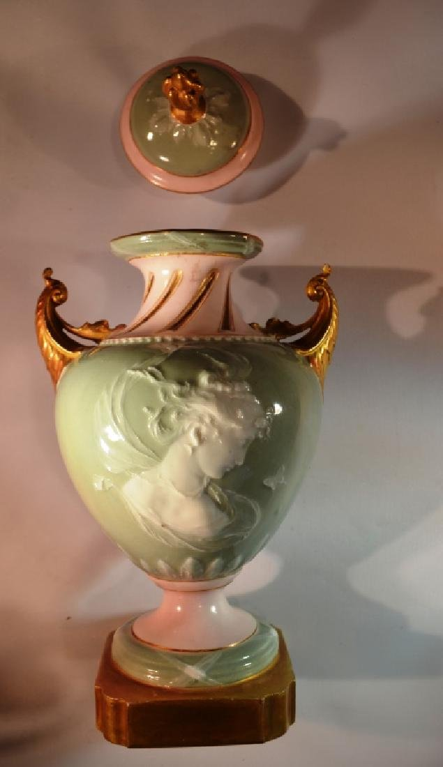 Austrian Urn Hand Painted gold accent - 3