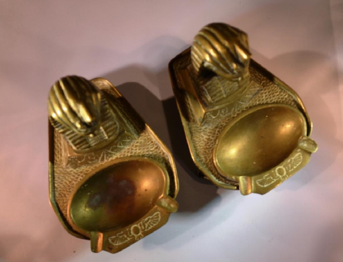 Egyptian Brass Ashtrays 1940s