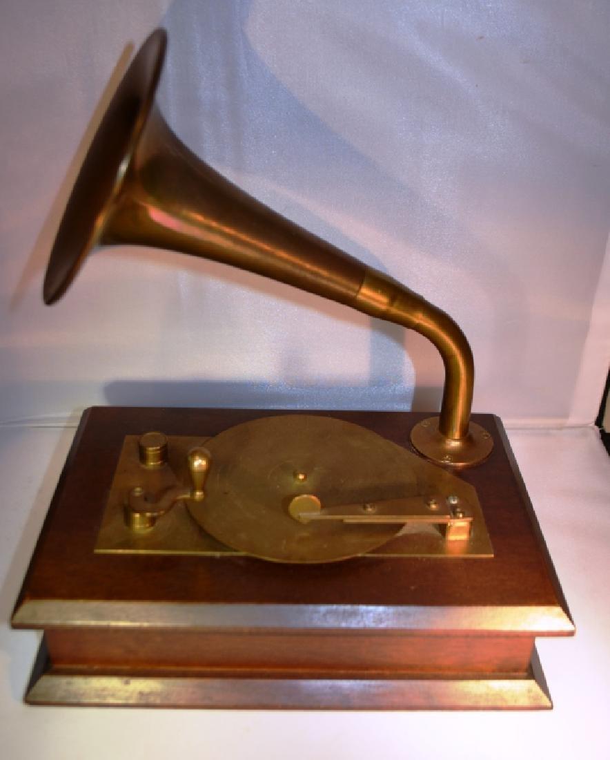 Brass Victrola Music Box