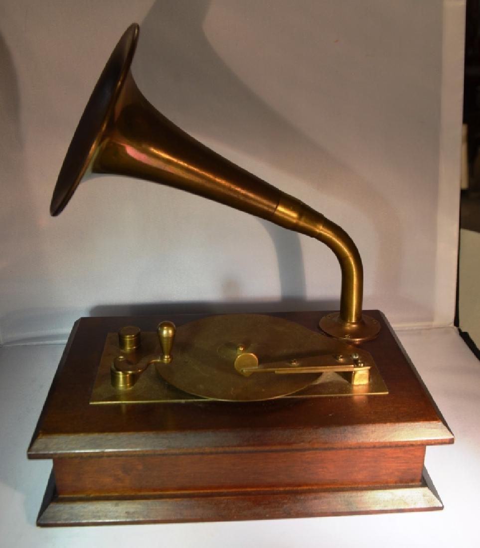 Brass Victrola Music Box - 2