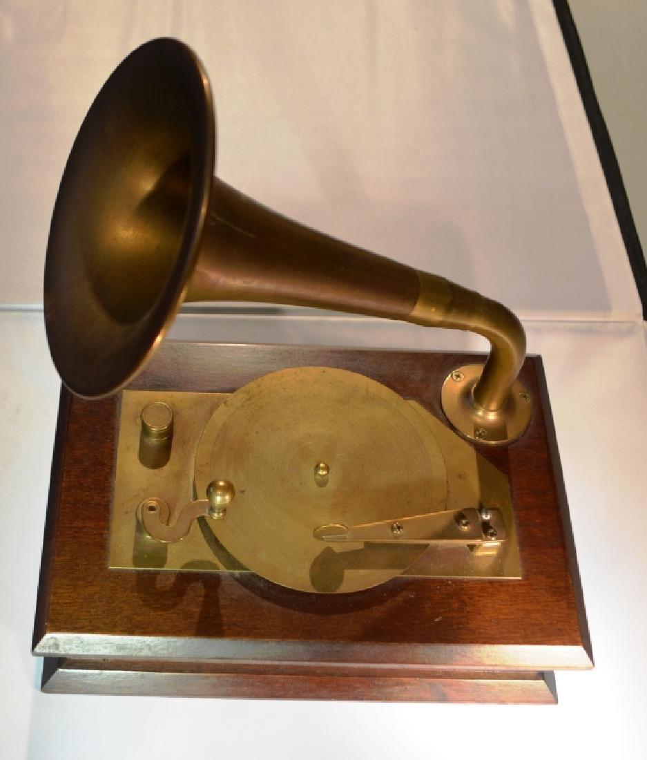 Brass Victrola Music Box - 4