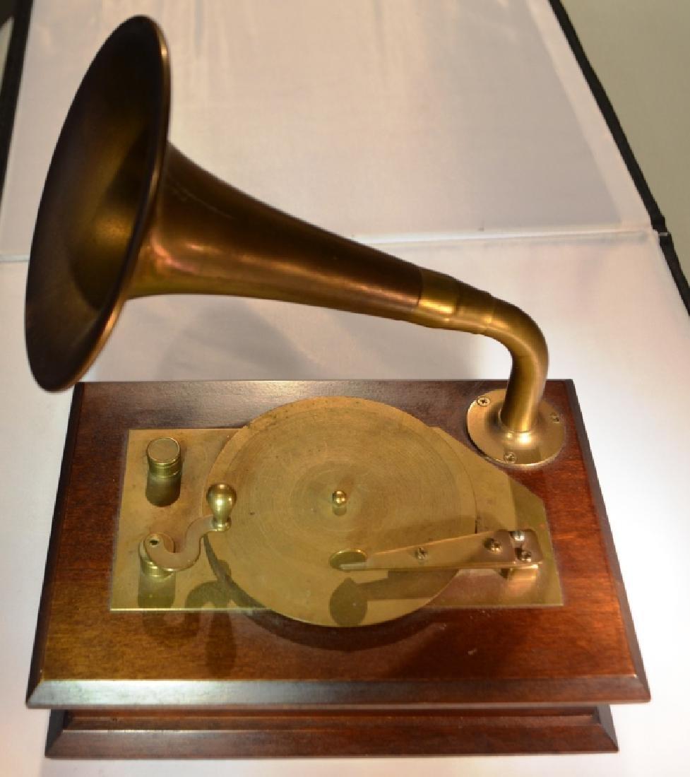 Brass Victrola Music Box - 6