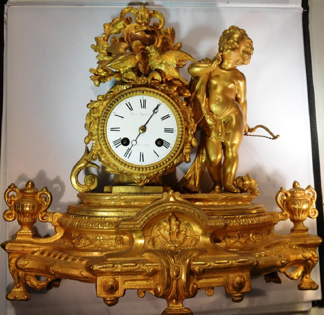 Pell Brothers Ornate Mantle Clock - 2