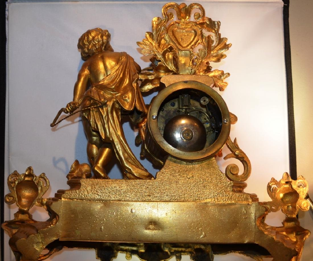 Pell Brothers Ornate Mantle Clock - 3