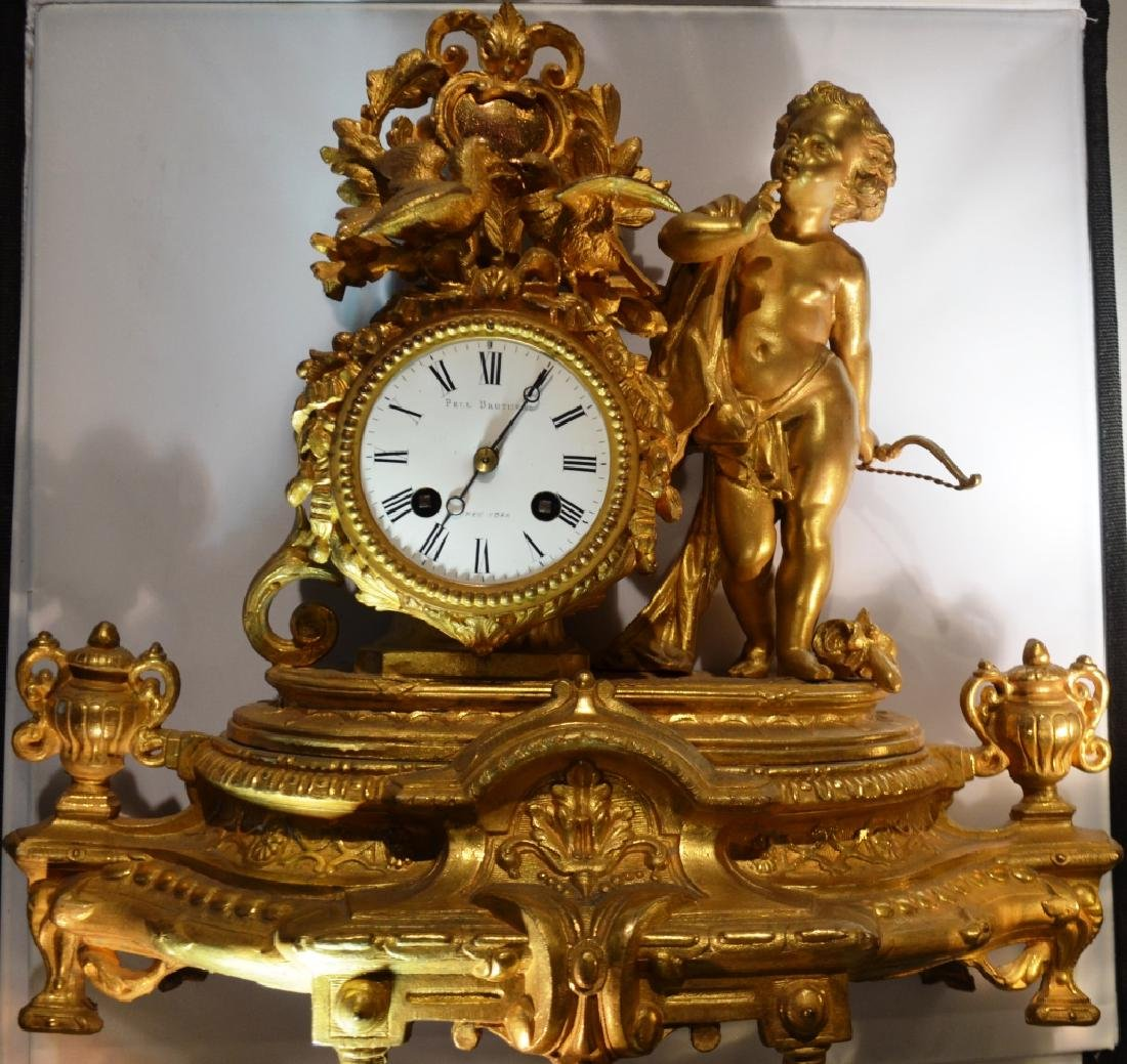 Pell Brothers Ornate Mantle Clock - 5