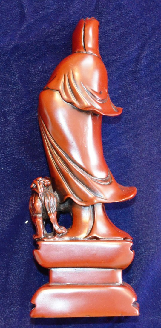 QUANYIN with Foo Dog. Teacher with Stork Sculpure. - 3