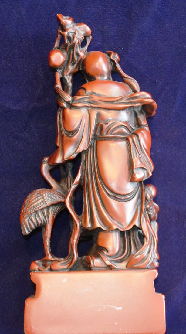 QUANYIN with Foo Dog. Teacher with Stork Sculpure. - 4