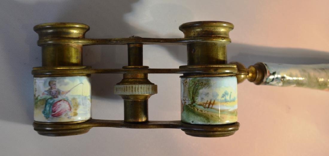 French opera Glasses 18th-20th Century enamel. - 2