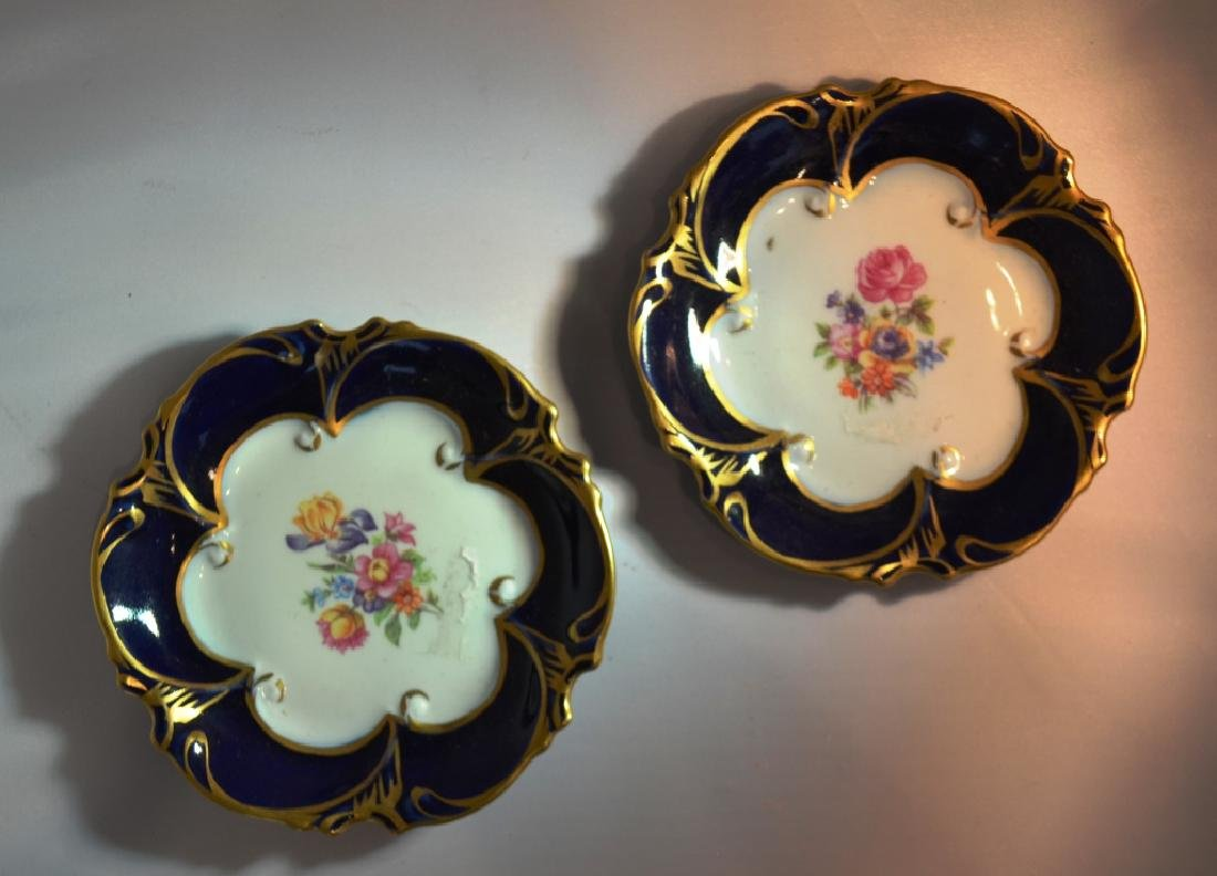 Art Nouveau Porcelain Saucers.