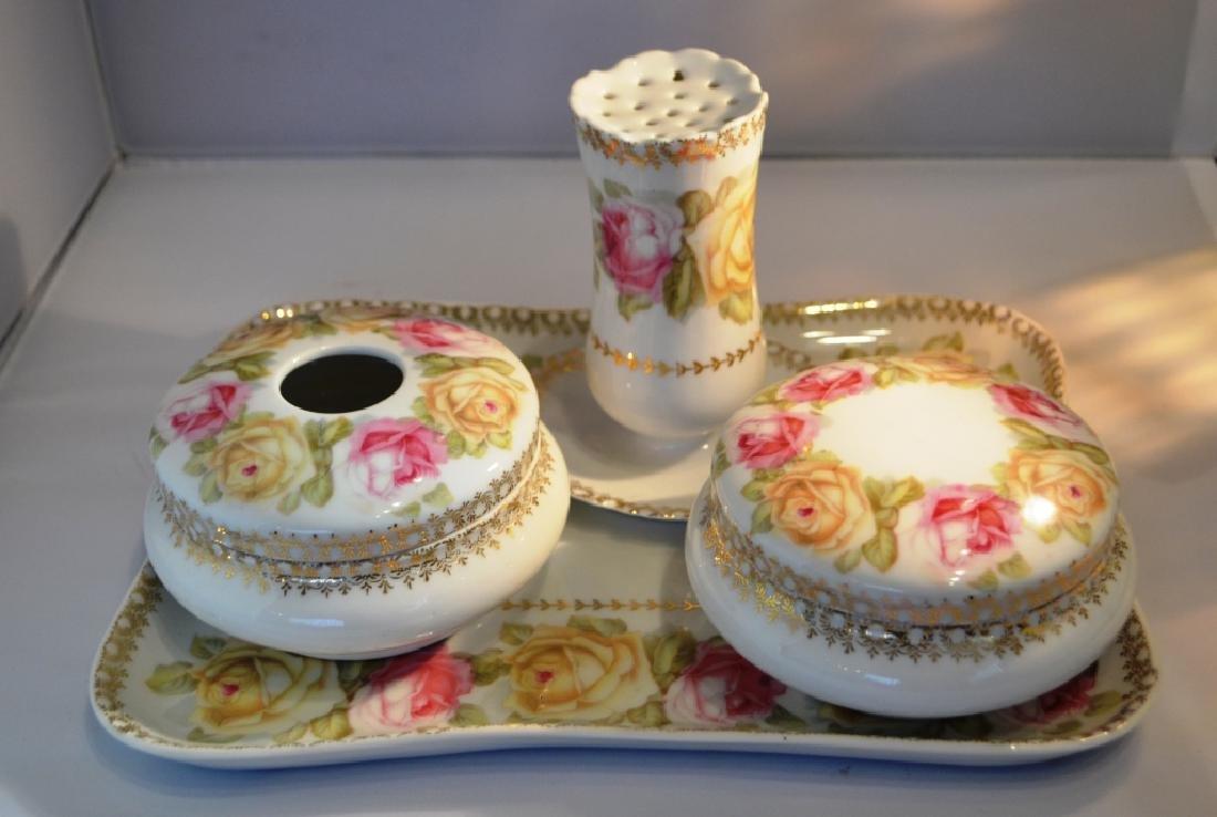 Ladies Porcelain Dresser Set. late 1800's