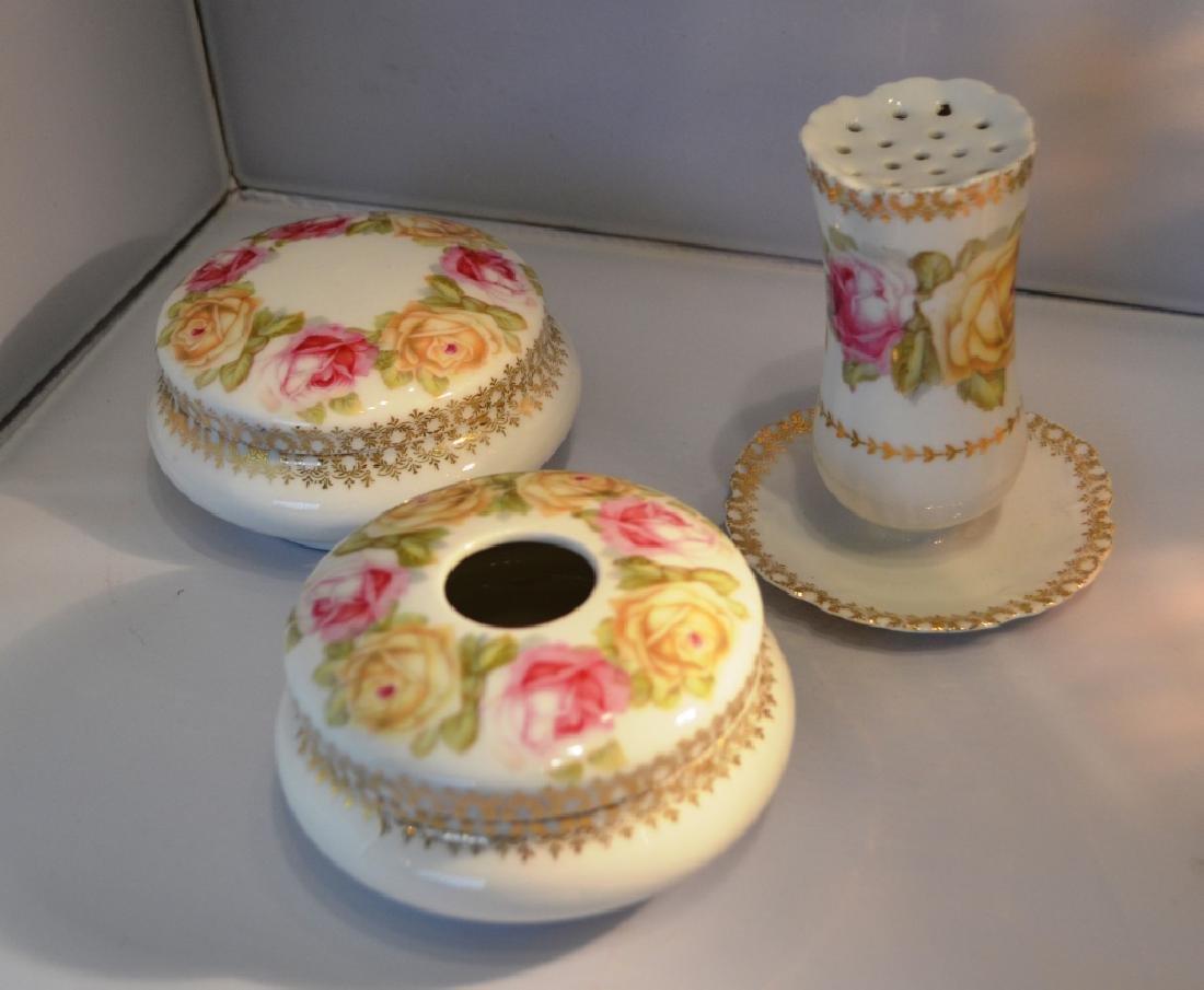 Ladies Porcelain Dresser Set. late 1800's - 2