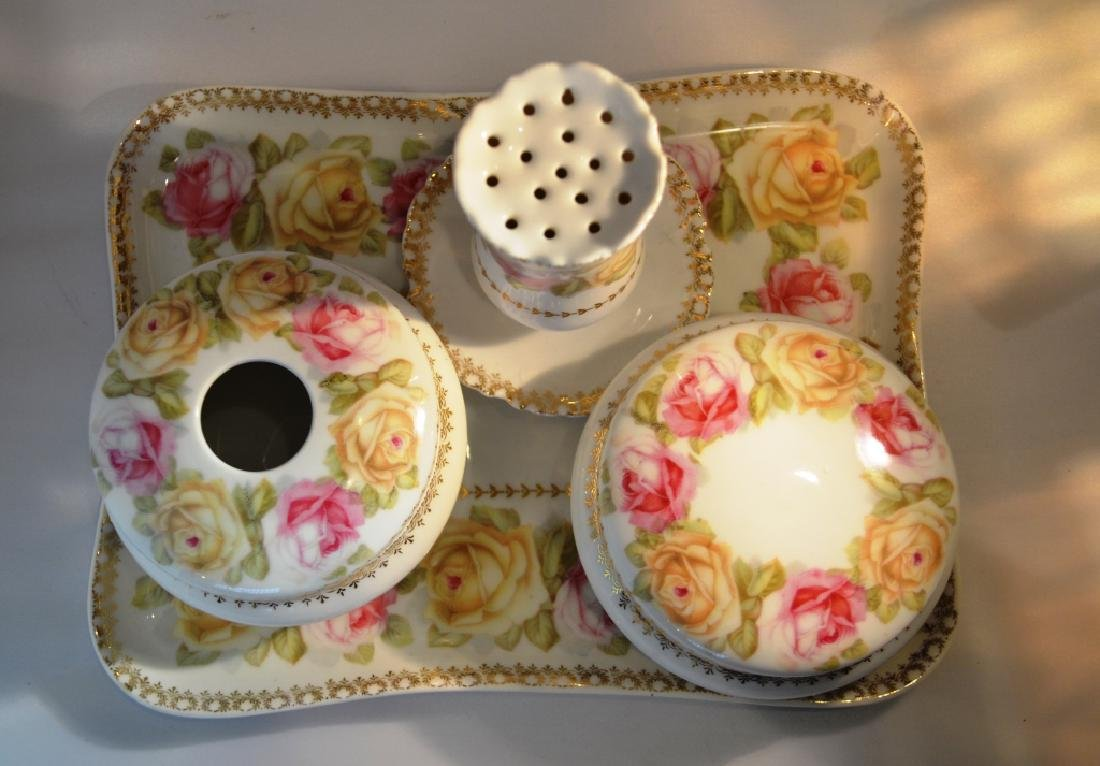 Ladies Porcelain Dresser Set. late 1800's - 3