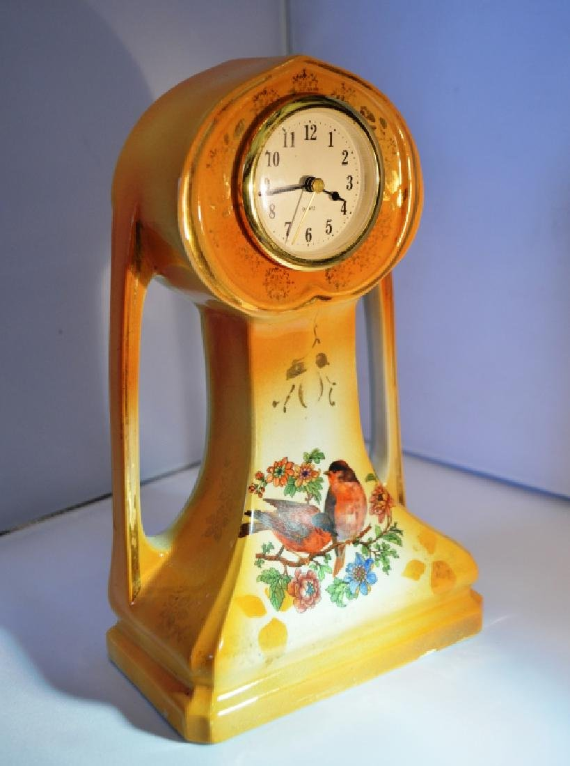 Art Nouveau  Yellow Clock.