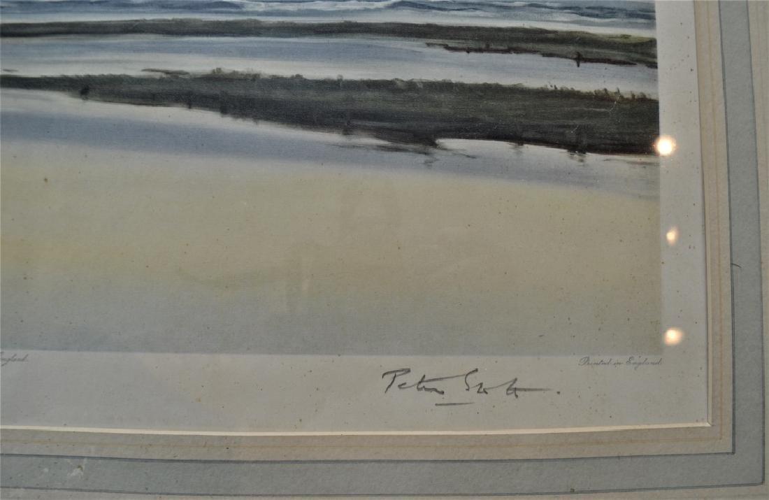 1936 Peter Scott Geese Litho signed Peter Scott - 4