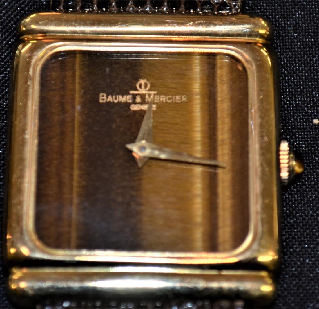 Baume & Mercier 18K Gold Watch With Tiger Eye Dial