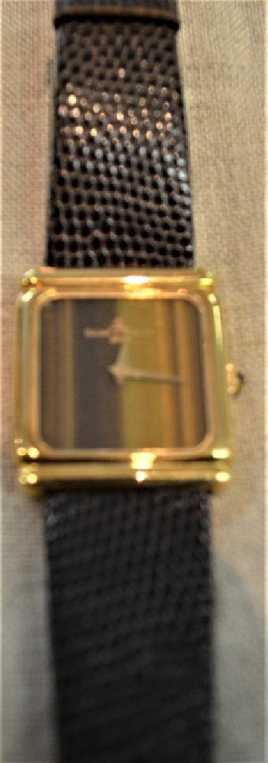Baume & Mercier 18K Gold Watch With Tiger Eye Dial - 2