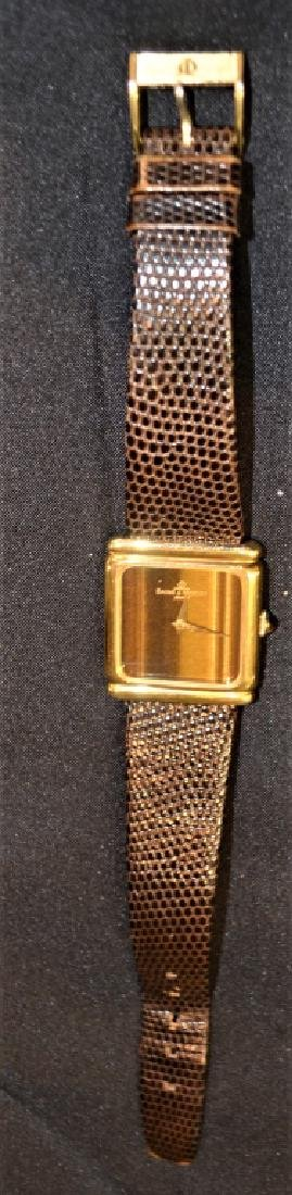 Baume & Mercier 18K Gold Watch With Tiger Eye Dial - 3