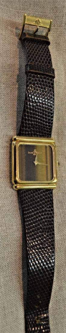 Baume & Mercier 18K Gold Watch With Tiger Eye Dial - 4