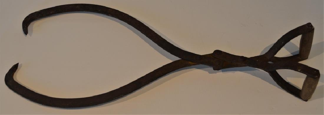 Antique Ice Pick Tongs - 3